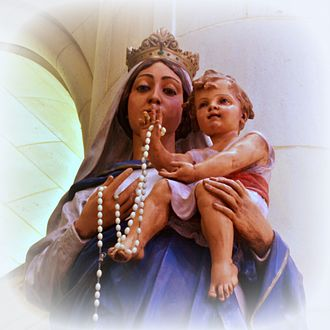 Rosary Cathedral (Toledo, Ohio) - A statue of Madonna and Child from the cathedral.