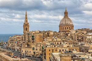 Basilica of Our Lady of Mount Carmel, Valletta - Image: Our Lady of Mount Carmel and St Pauls Pro Cathedral