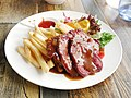 Ox tongue with salad and fries from Gathering.jpg