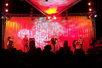 Wickham, Hampshire - The Oysterband headlining the first Wickham Festival in 2006