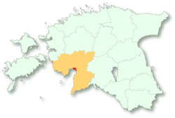 Location of Pärnu的位置