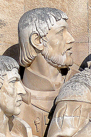 Pêro Escobar - Effigy of Pêro Escobar in the Monument to the Discoveries, in Lisbon, Portugal.