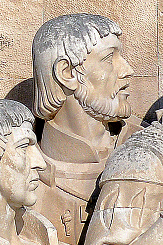 Pêro Escobar - Effigy of Pêro Escobar in the Monument of the Discoveries, in Lisbon, Portugal.