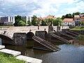 Písek, kamenný most, od Svatotrojické k Fügnerovu náměstí.jpg