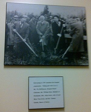 Peace Arch Hospital - Photograph displayed in Peace Arch Hospital of 1951 sodturning