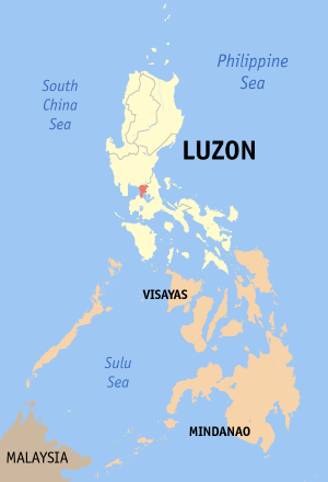 Manila (province) - Location of the historical province of Manila.