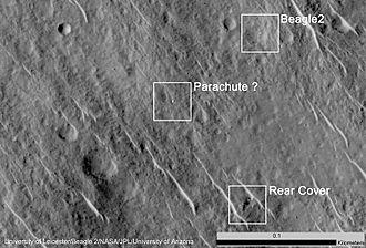 Beagle 2 - Image: PIA19106 Beagle 2 Found MRO 20140629