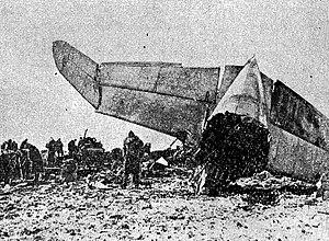 1962 LOT Vickers Viscount Warsaw crash - Wreckage of the aircraft