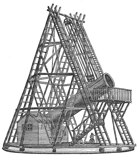 PSM V09 D079 Herschel 40 foot telescope at slough.jpg