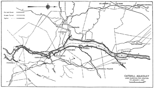 PSM V79 D104 Map of possible aquaduct paths for the nyc water supply.png