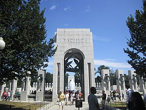 Asiatic-Pacific Theater - Pacific Theater section of the National World War II Memorial in Washington, D.C.