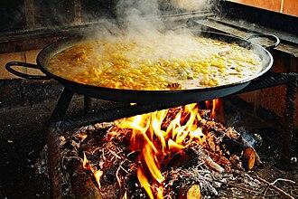 Paella - Traditional preparation of paella
