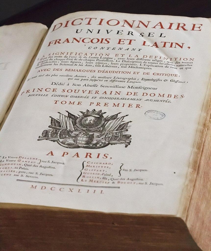 File Page De Garde Du Dictionnaire De Trévoux Jpg