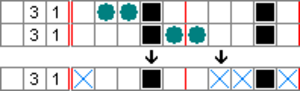 Nonogram - Image: Paint by numbers Solving Example 3