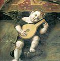 Pala di Paolo da Caylina il Giovane, angioletto che suona il liuto.jpg