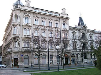 Šandor Alexander - Hotel Palace in Zagreb, originally called Schlesinger Palace (1891), once owned by Alexander