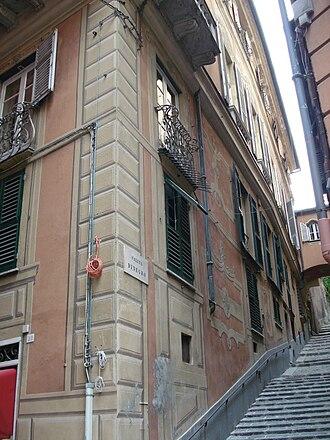 Genoa: Le Strade Nuove and the system of the Palazzi dei Rolli - Image: Palazzo Giorgio Spinola 3