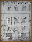 Drawing of the facade attributed to Antonio da Sangallo il giovane