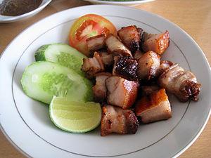 Batak cuisine - Panggang, Batak style roasted pork