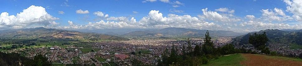 Panorama of the Iraca Valley of Suamox