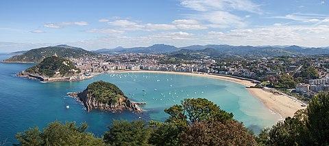 Panorama from Monte Igueldo