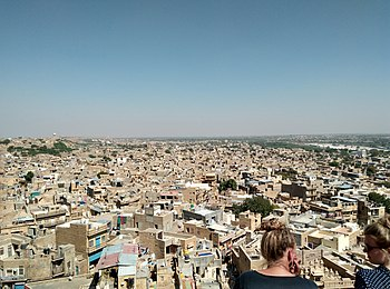 Panoramic view from jaisalmer fort overlooking the city.jpg