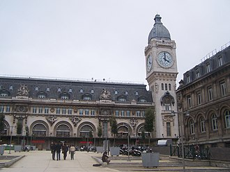 Gare de Lyon - Outside the station, with its large clock tower