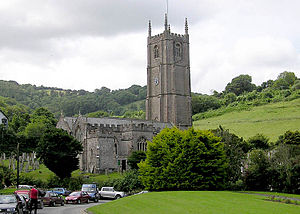Church of England parish church - Combe Martin parish church (St. Peter ad Vincula), North Devon, England.