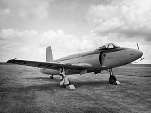Supermarine Attacker - Image: Parked Supermarine Attacker