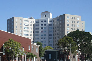 Parkmerced, San Francisco - Parkmerced also has several high-rise apartment towers.