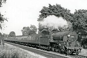 LSWR N15 class - Urie N15 30740 'Merlin, near Branksome 1951