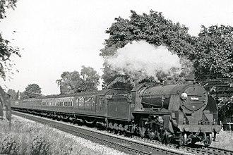 LSWR N15 class - Urie N15 30740 'Merlin', near Branksome 1951
