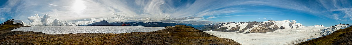 360 degrees panorama in the Chugach State Park, Alaska, United States