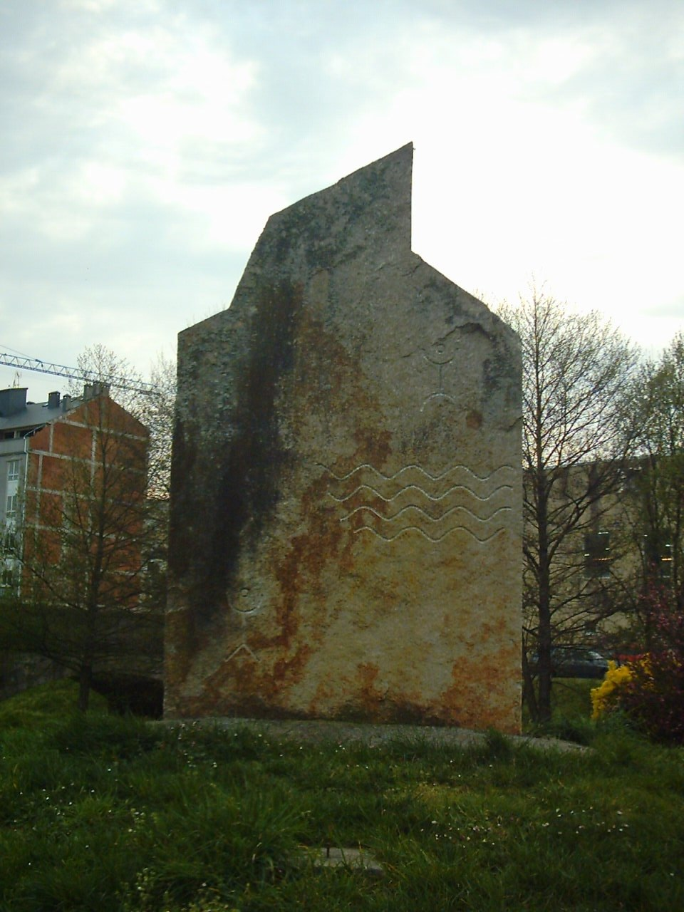 Detalle do monumento de pedra