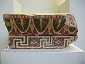 Part d'un cimaci jònic procedent del taller de Fídies a Olímpia, principis del segle IV aC. Museu arqueològic d'Olímpia.JPG