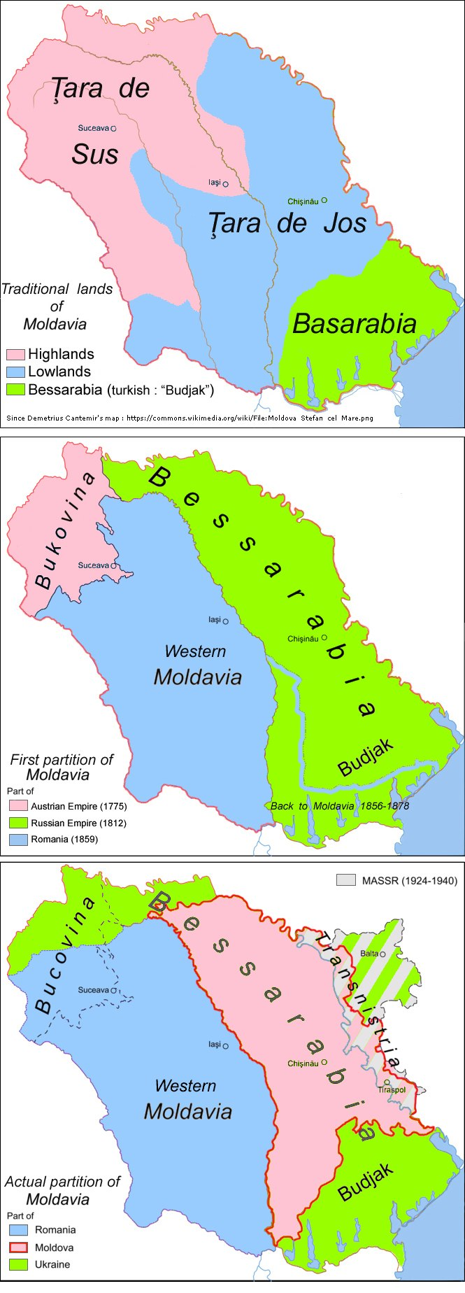 Partitions of Moldavia