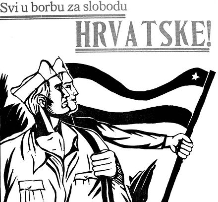 "Croatian Partisan poster: ""Everybody into the fight for the freedom of Croatia!"" Partizanski plakat.jpg"