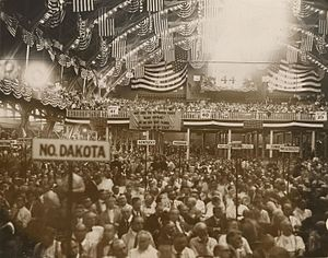 1920 Republican National Convention - Delegates gathered on the convention floor
