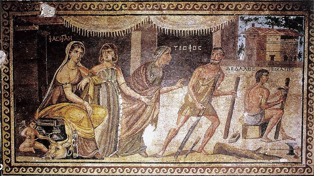 - Pasiphae, Daedalus y la vaca de madera - Autor y fecha desconocida