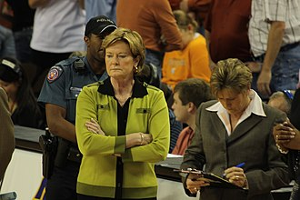 Pat Summitt - Summitt with a subdued look in 2008