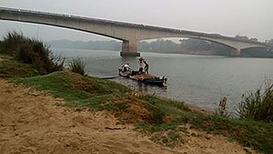 Brahmani River - Patrapur Bridge on Brahmani River in Pattamundai along SH-9A
