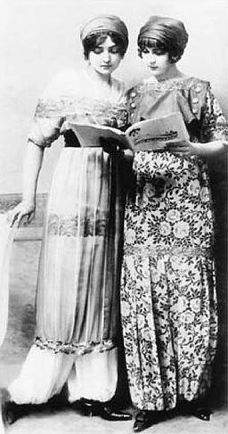 Paul Poiret sultana skirts and harem pants fashions, 1911