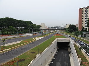 Kallang–Paya Lebar Expressway - The Kallang-Paya Lebar Expressway under construction in 2005