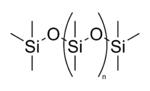 Struktur von Polydimethylsiloxan
