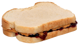 Peanut butter and jelly sandwich - A peanut butter and jelly sandwich on white bread