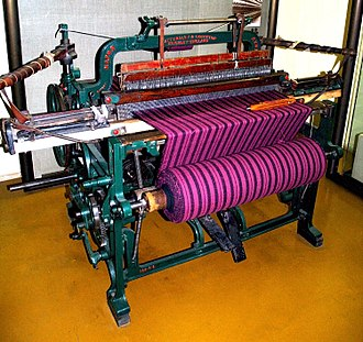 Loom - A foot-treadle operated Hattersley & Sons, Domestic Loom, built under license in 1893, in Keighley, Yorkshire.
