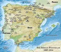 Mapa de Guerra Peninsular.