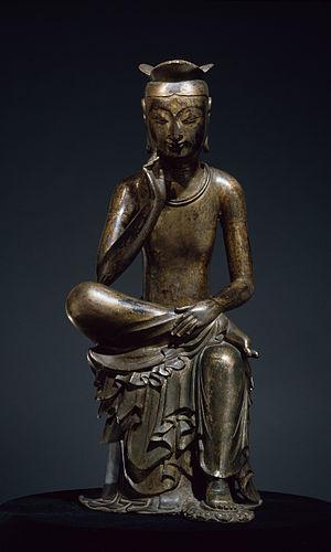 Korean art - Gilt-bronze Maitreya in Meditation.