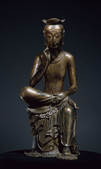 Korean art - Gilt-bronze Maitreya in Meditation.