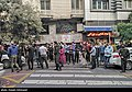 People gathering outside the Jam Hospital following the death of Mohammad-Reza Shajarian 2020-10-08 40.jpg